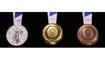 Япония представила дизайн медалей для Олимпийских игр в Токио 2020, для традиционного празднования одного года до старта игр.