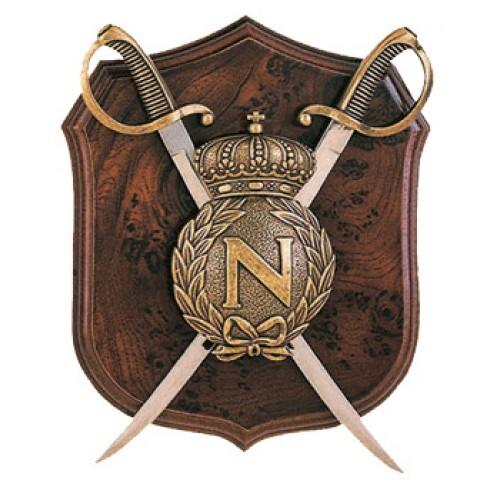 Панно с щитом и 2 сабли