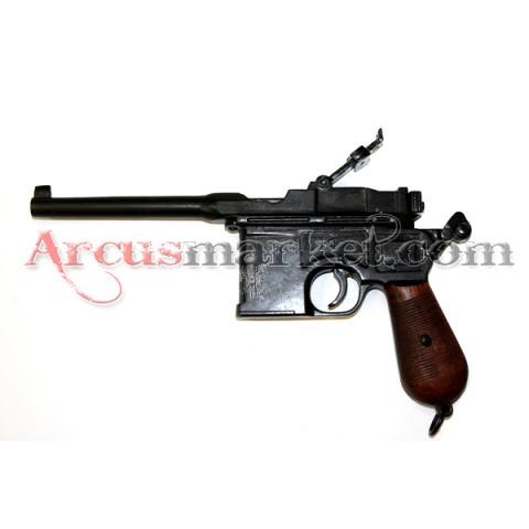 Пистолет Маузер, 1896г., деревянная рукоять, ММГ копия